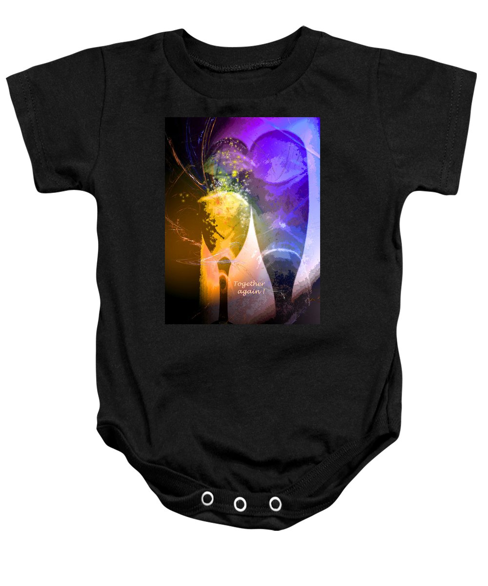Fantasy Baby Onesie featuring the photograph Together Again by Miki De Goodaboom