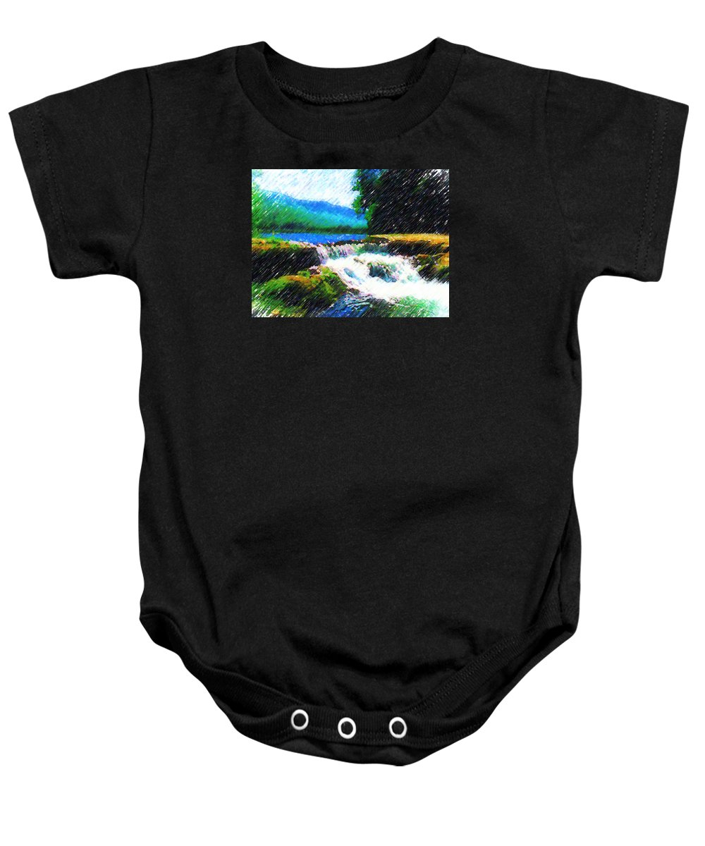 Landscape Baby Onesie featuring the photograph Tolhuaca by Madalena Lobao-Tello