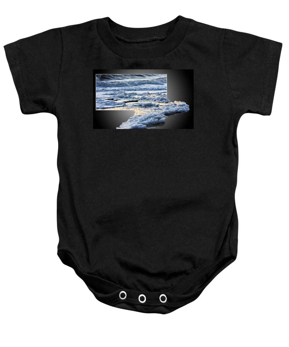 Beach Baby Onesie featuring the photograph Too Big For The Frame by Allan Levin