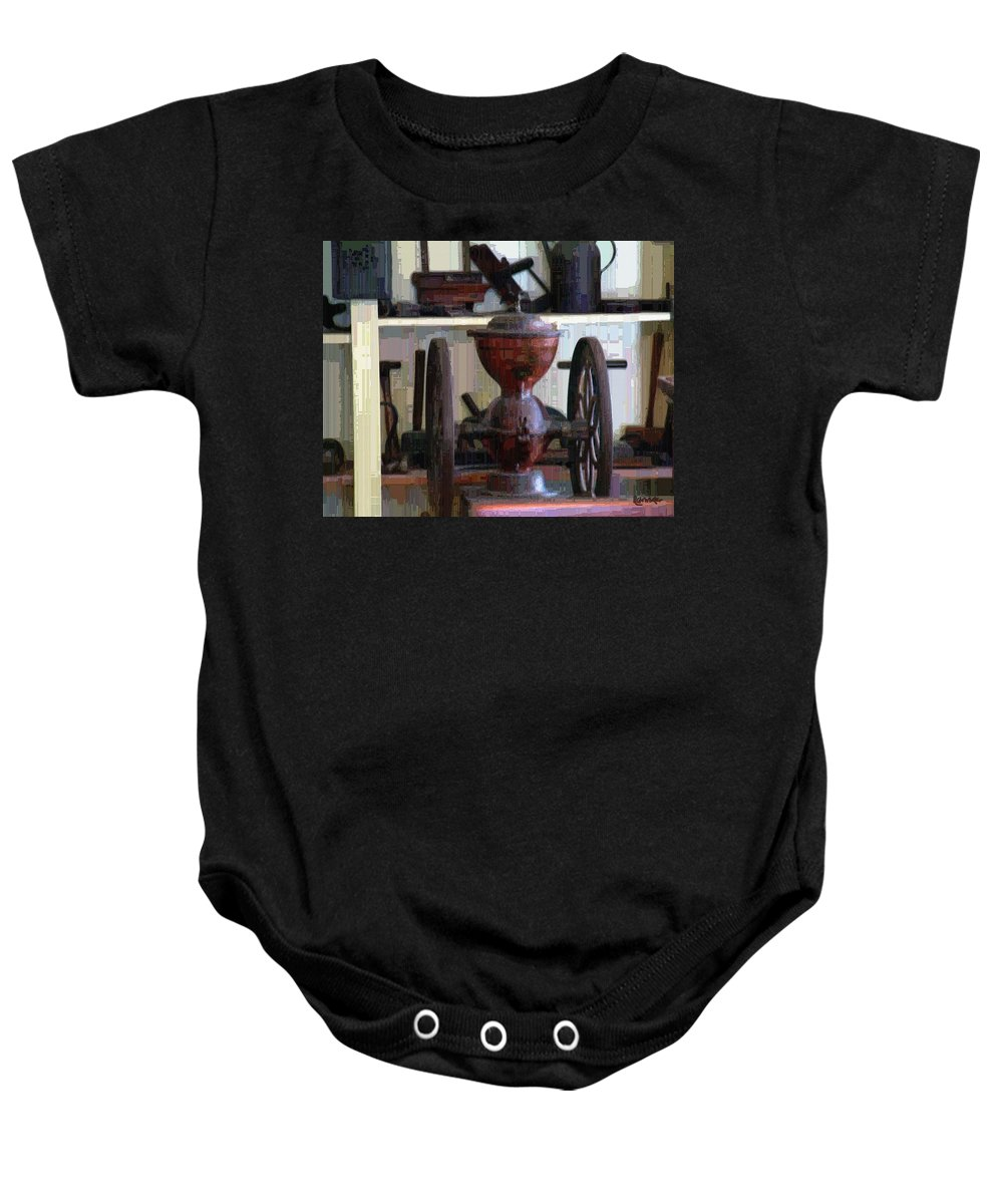 Americana Baby Onesie featuring the digital art Tools For The Times by RC DeWinter