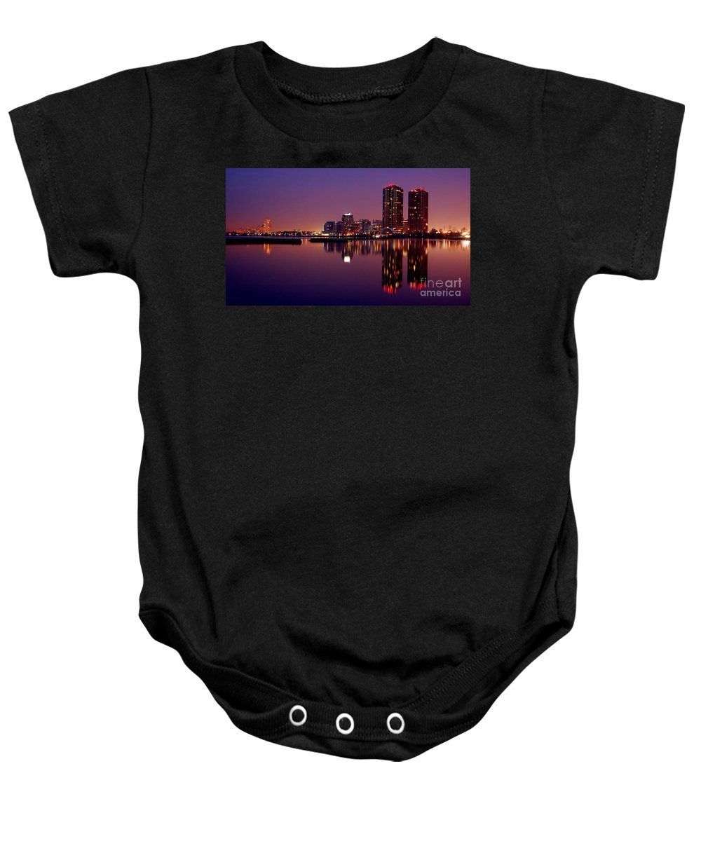 Water Baby Onesie featuring the photograph Toronto Cracking Dawn by Joe Ng