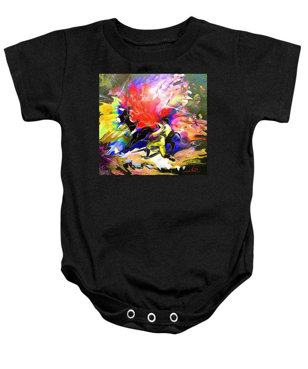 Animals Baby Onesie featuring the painting Toroscape 06 by Miki De Goodaboom