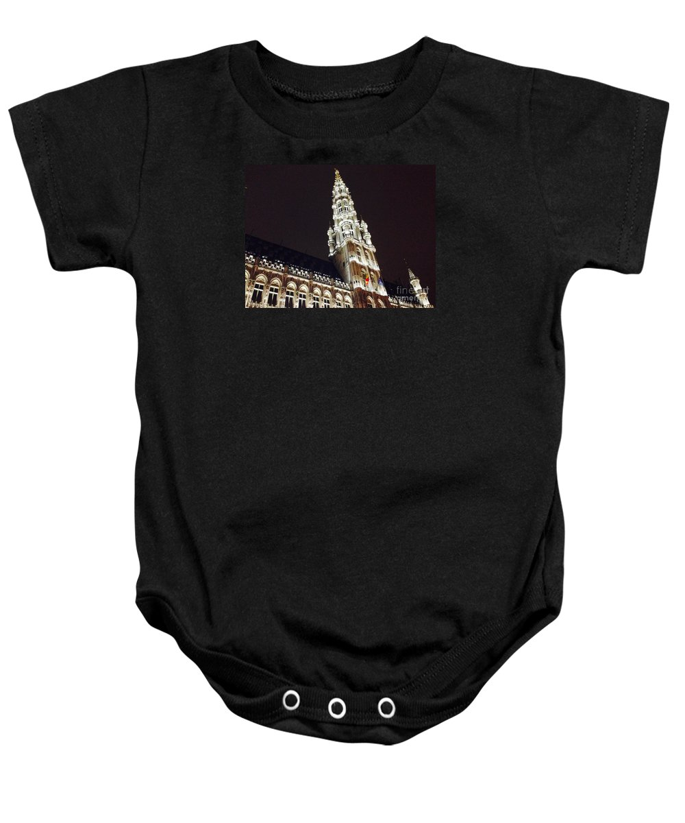 Brussels Baby Onesie featuring the photograph Brussels Tower Light by Jost Houk
