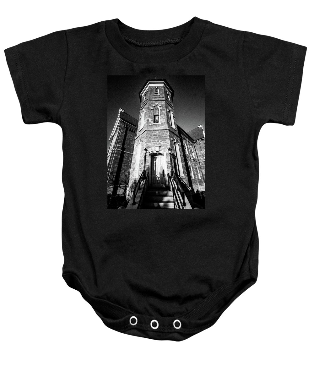And Baby Onesie featuring the photograph Towering Grace by Ryan Cottam Imaging