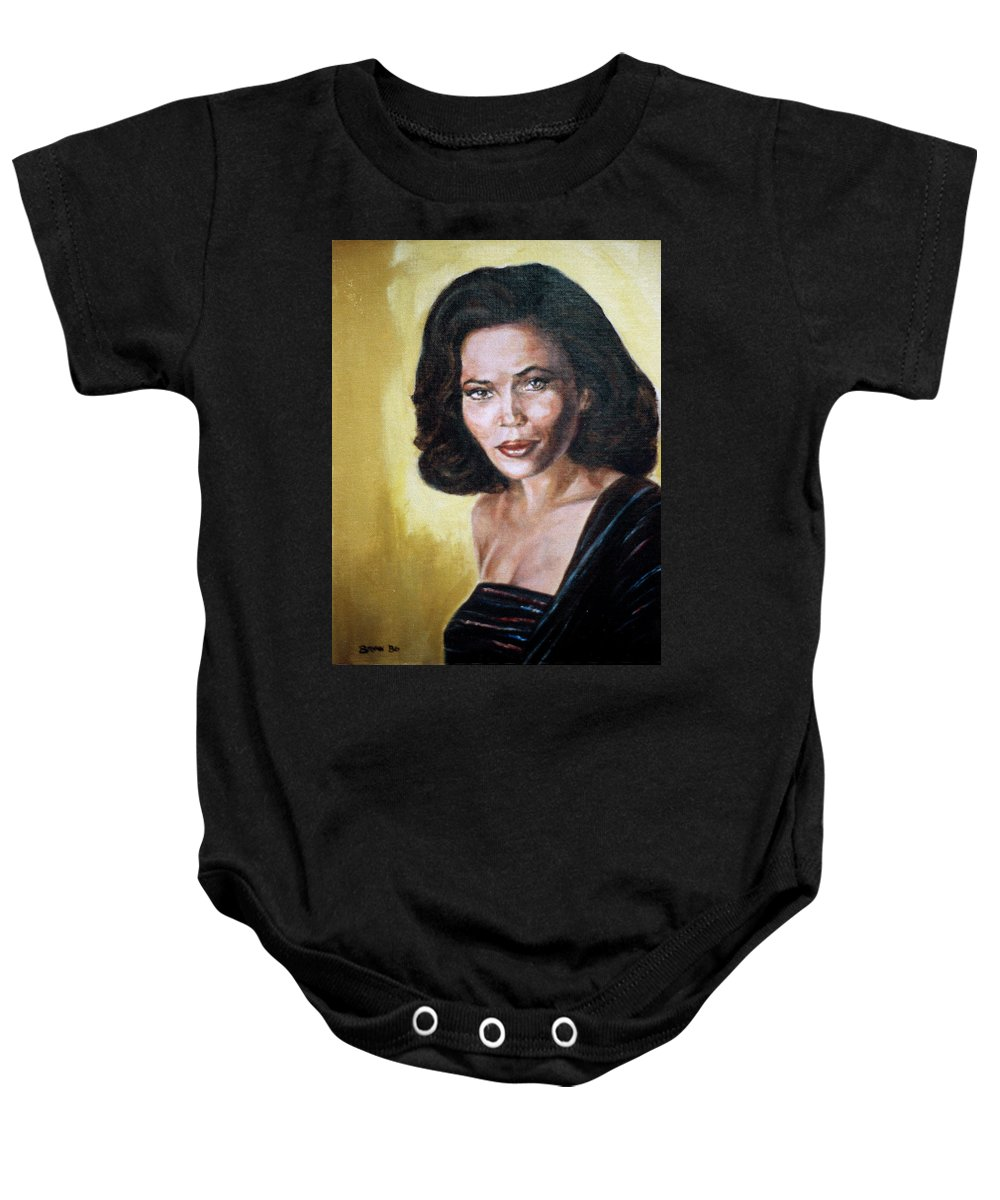 Tracey Ross Baby Onesie featuring the painting Tracey Ross by Bryan Bustard
