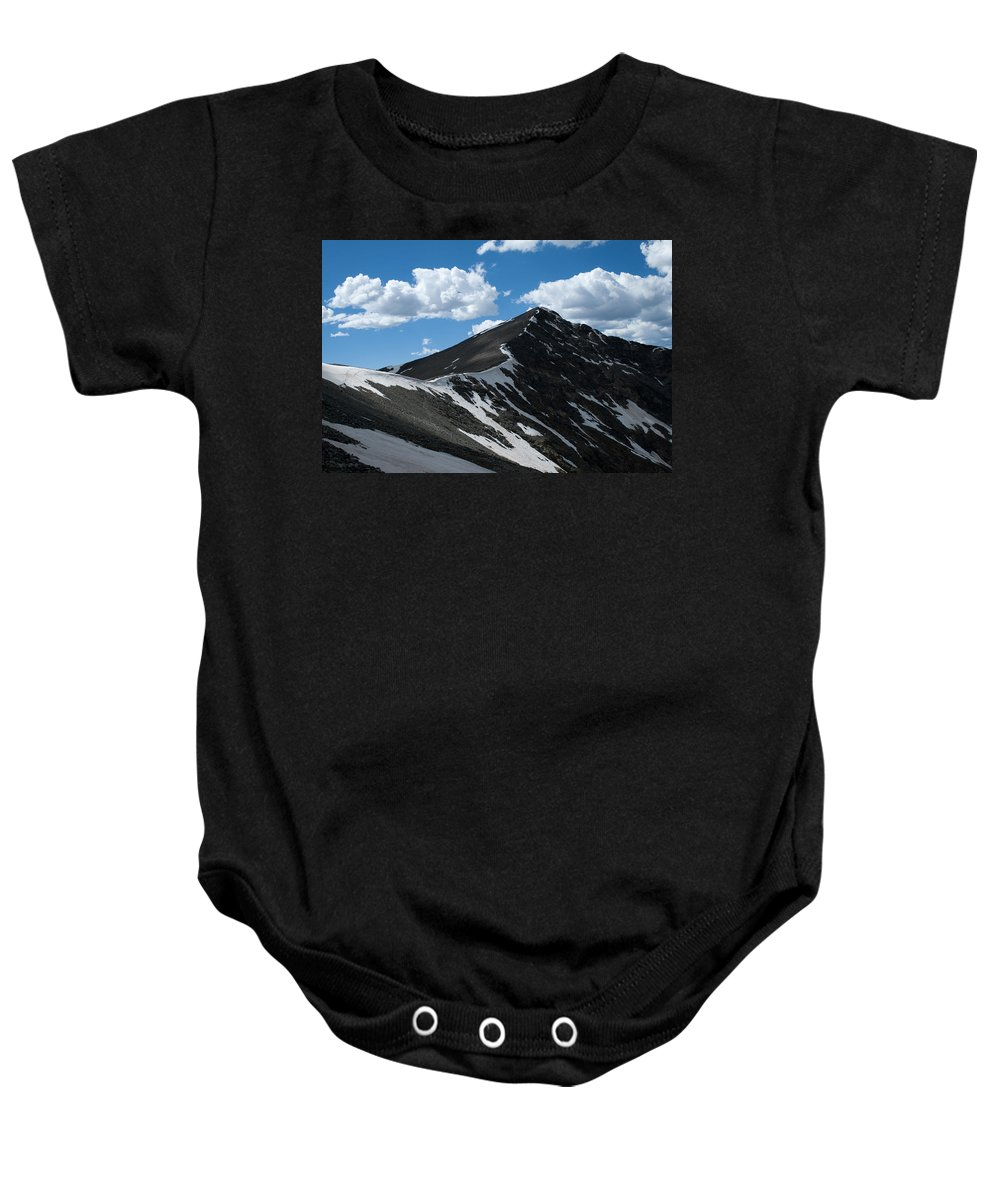 Grays Peak Baby Onesie featuring the photograph Trail From Grays To Torreys by Angus Hooper Iii