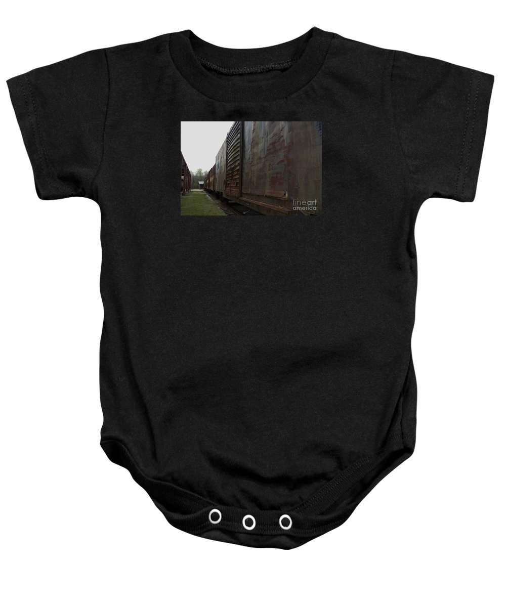 Train Baby Onesie featuring the photograph Trains 12 Autochrome by Jay Mann