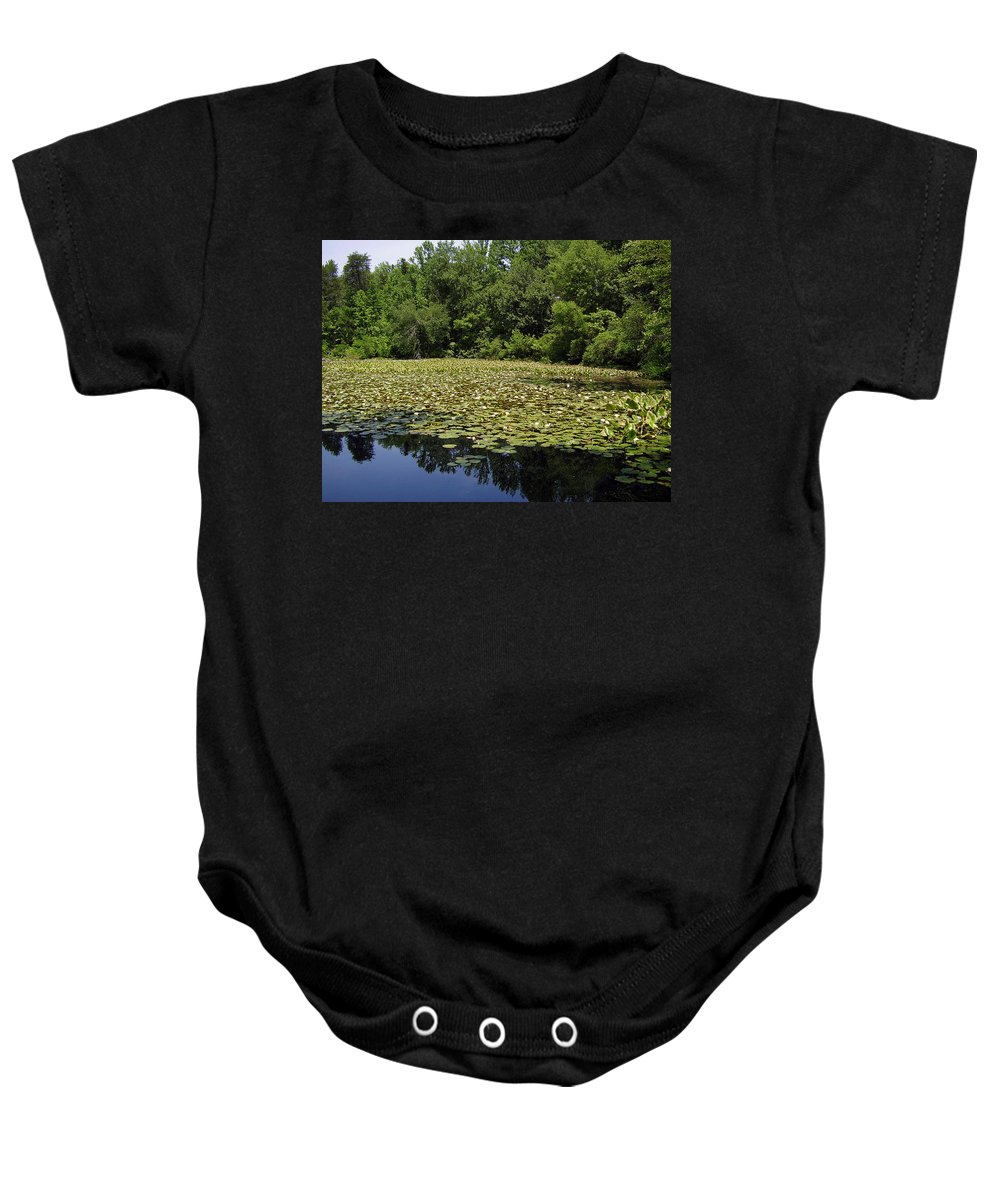 Tranquility Baby Onesie featuring the photograph Tranquility by Flavia Westerwelle
