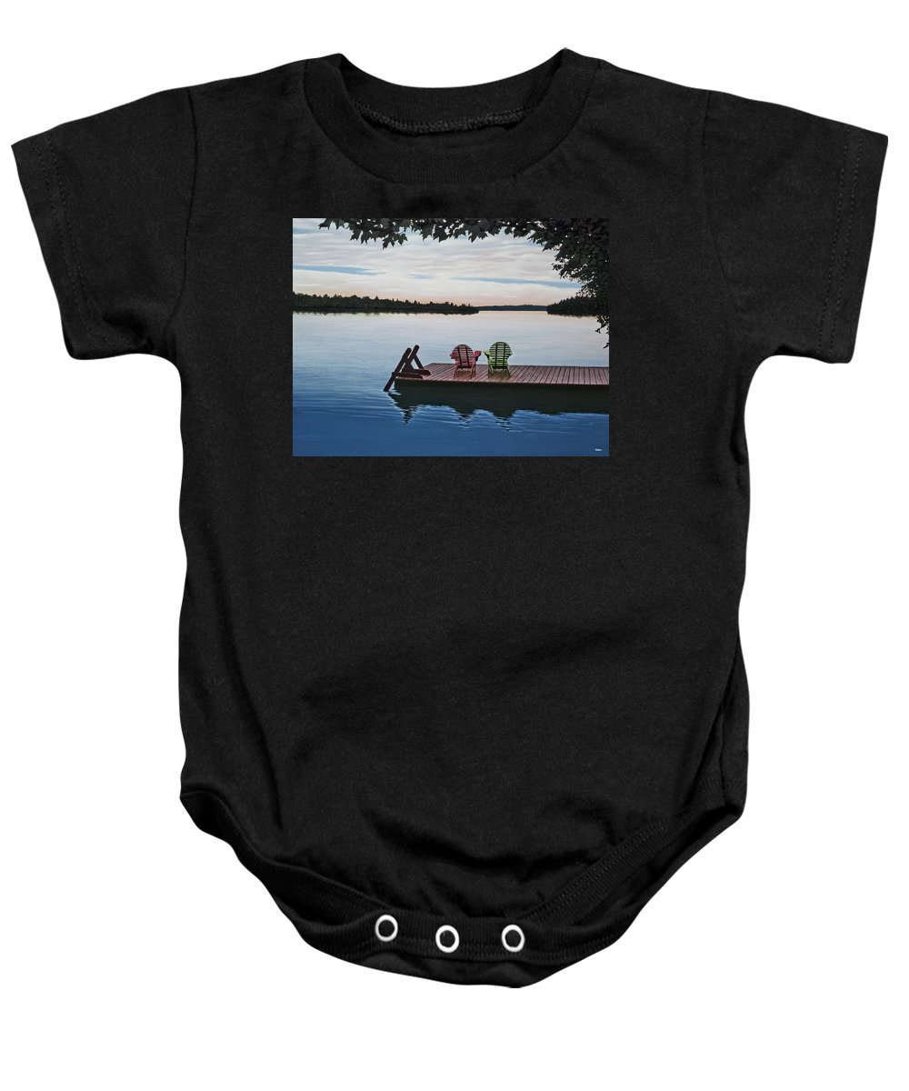 Landscapes Paintings Baby Onesie featuring the painting Tranquility by Kenneth M Kirsch