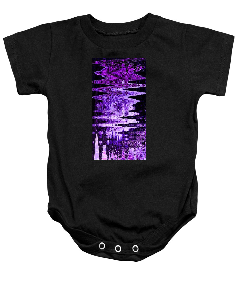 Abstract Baby Onesie featuring the digital art Traveling To Meet The King by Lenore Senior