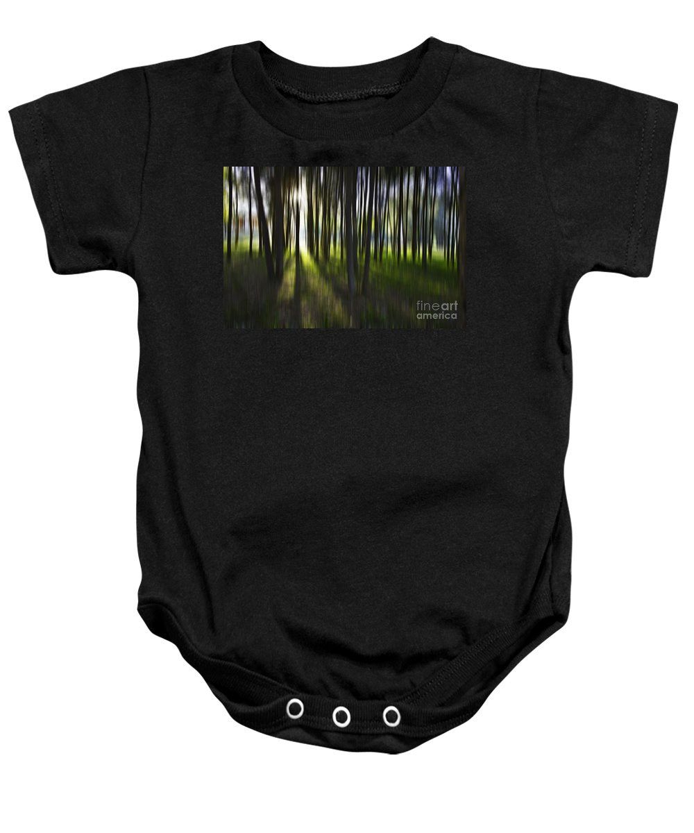 Trees Abstract Tree Lines Forest Wood Baby Onesie featuring the photograph Tree Abstract by Sheila Smart Fine Art Photography