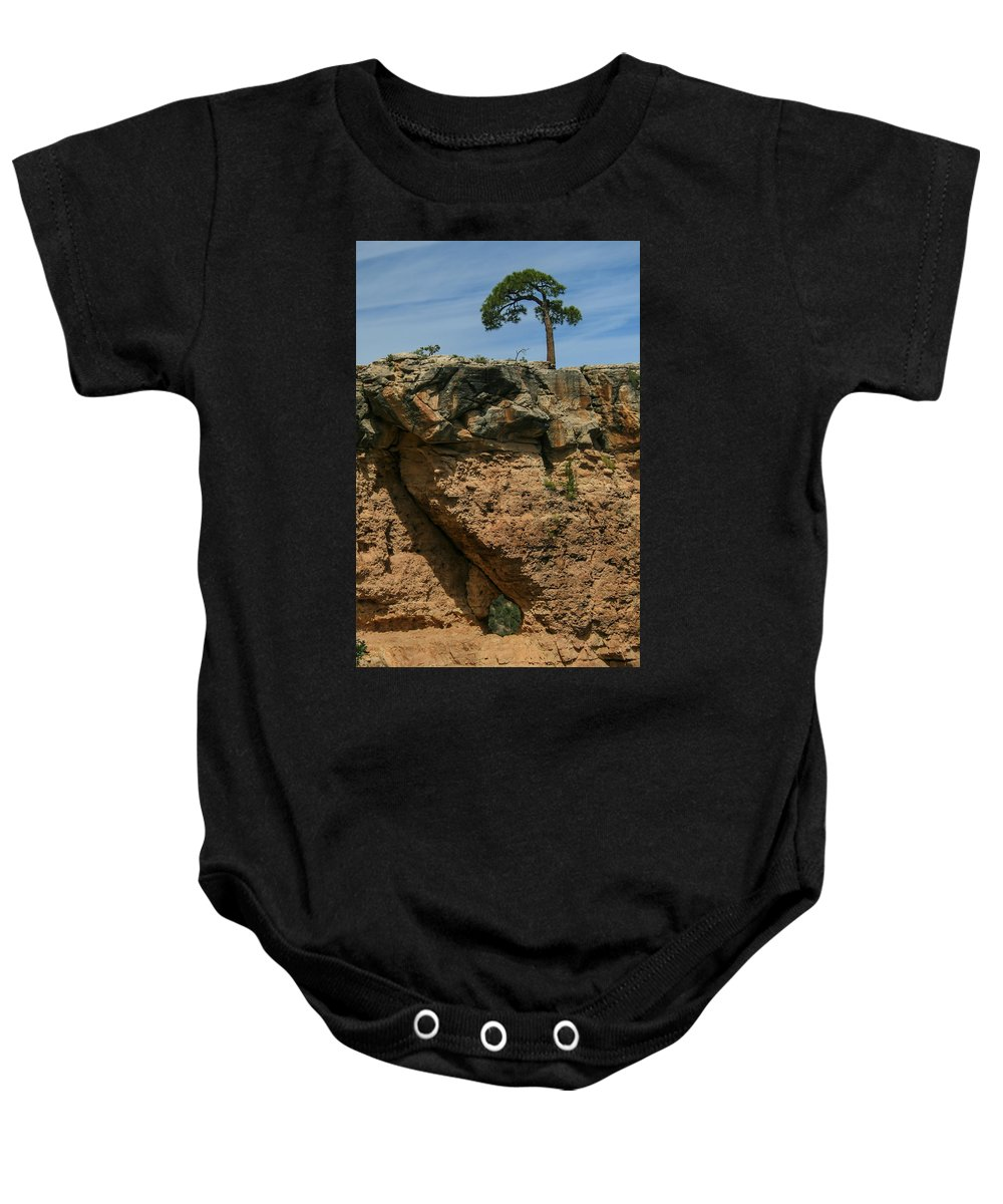 Grand Canyon Baby Onesie featuring the photograph Tree And Window by Mo Barton