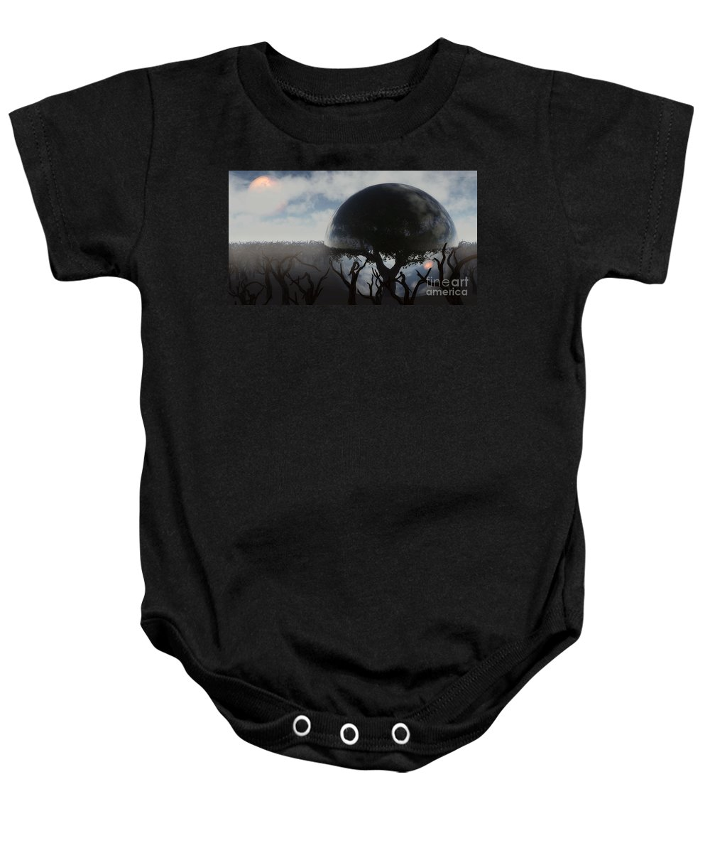 Life Baby Onesie featuring the digital art Tree Of Life by Richard Rizzo