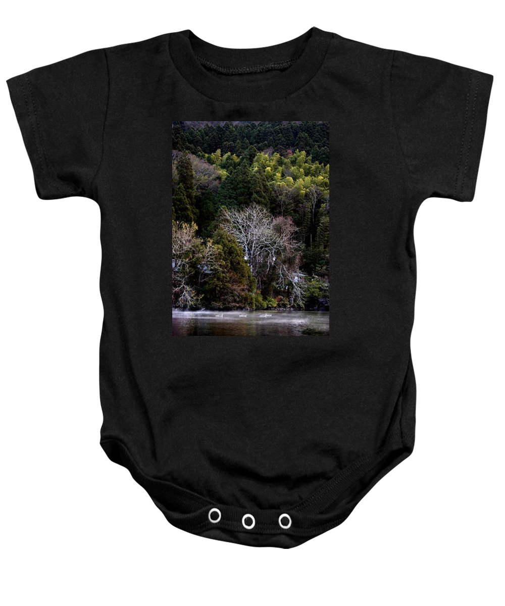 Landscape Baby Onesie featuring the photograph Trees In Japan 2 by George Cabig