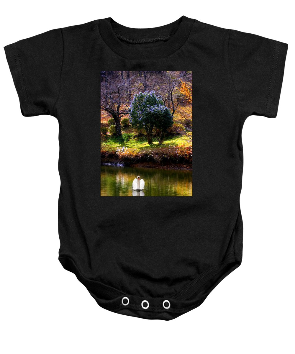 Swan Baby Onesie featuring the photograph Trees In Japan 8 by George Cabig