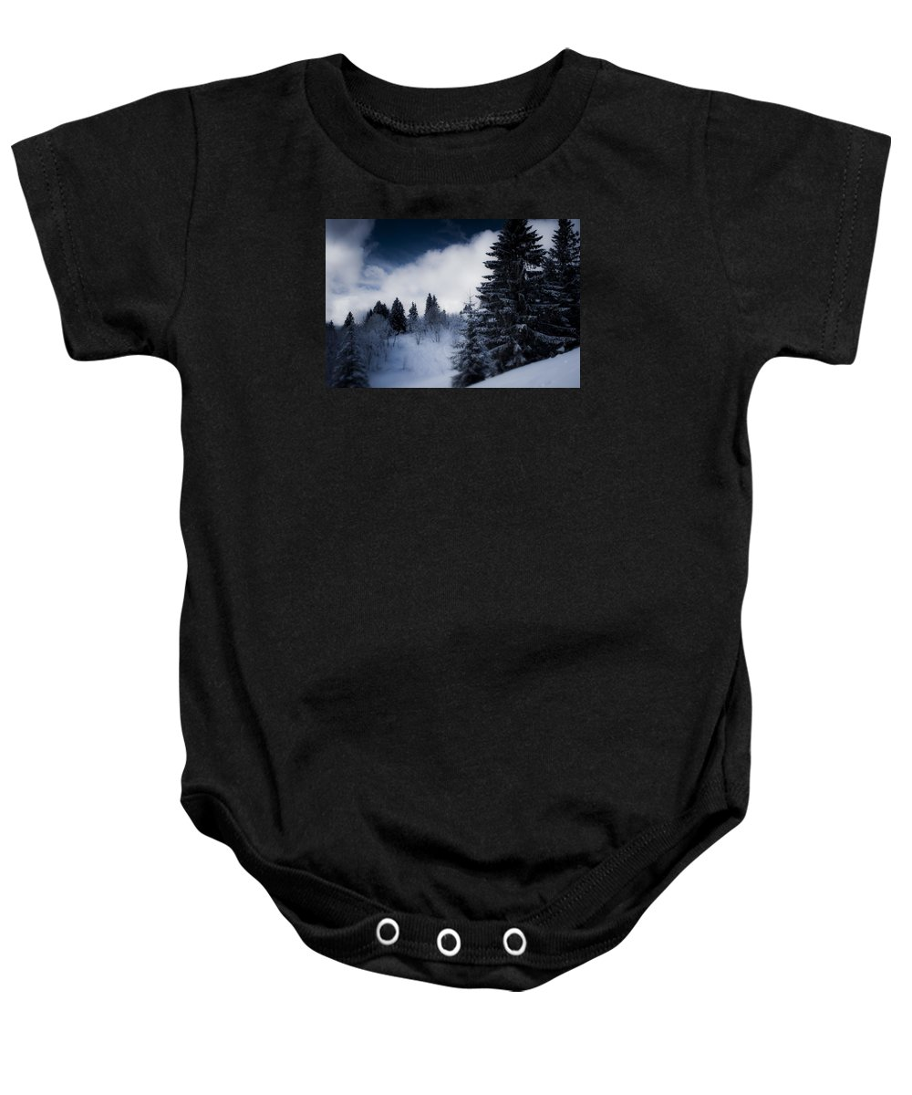 Miguel Baby Onesie featuring the photograph Trees Mountains And More Trees by Miguel Winterpacht