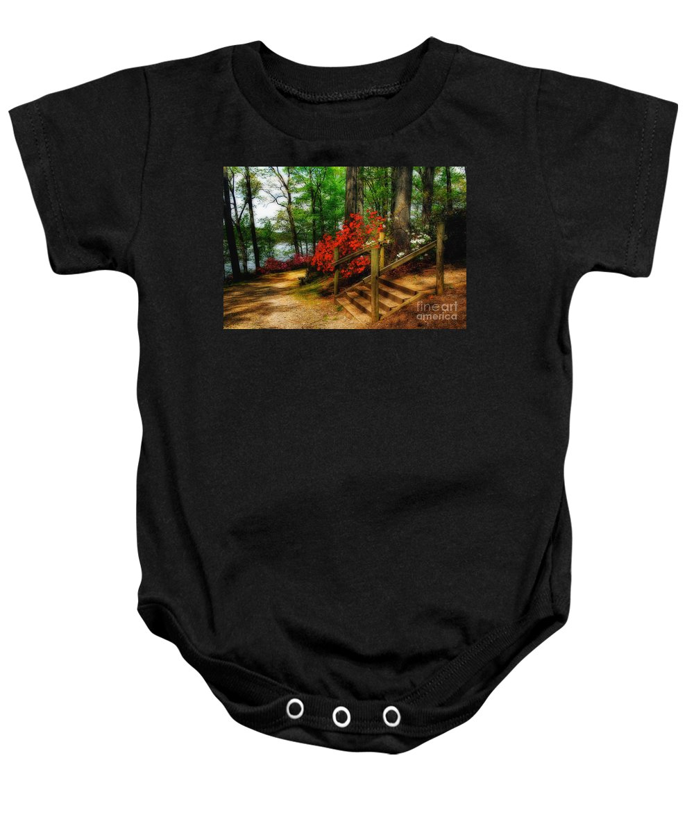 Landscape Baby Onesie featuring the photograph Triadelphia by Lois Bryan