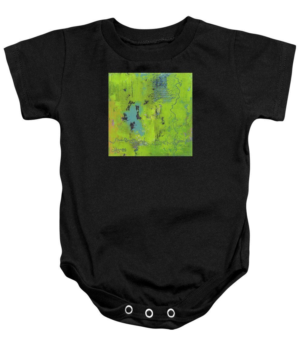 Abstract Baby Onesie featuring the painting Tributary by Marcy Brennan