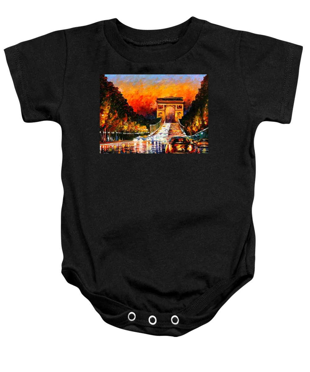 Afremov Baby Onesie featuring the painting Triumph by Leonid Afremov