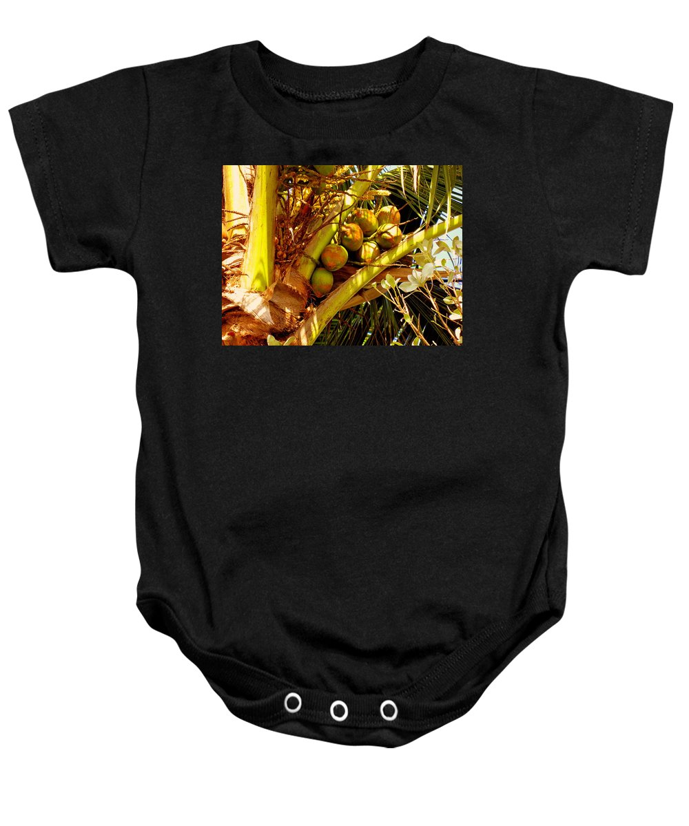 Coconuts Baby Onesie featuring the photograph Tropical Dreams 1 by Susanne Van Hulst