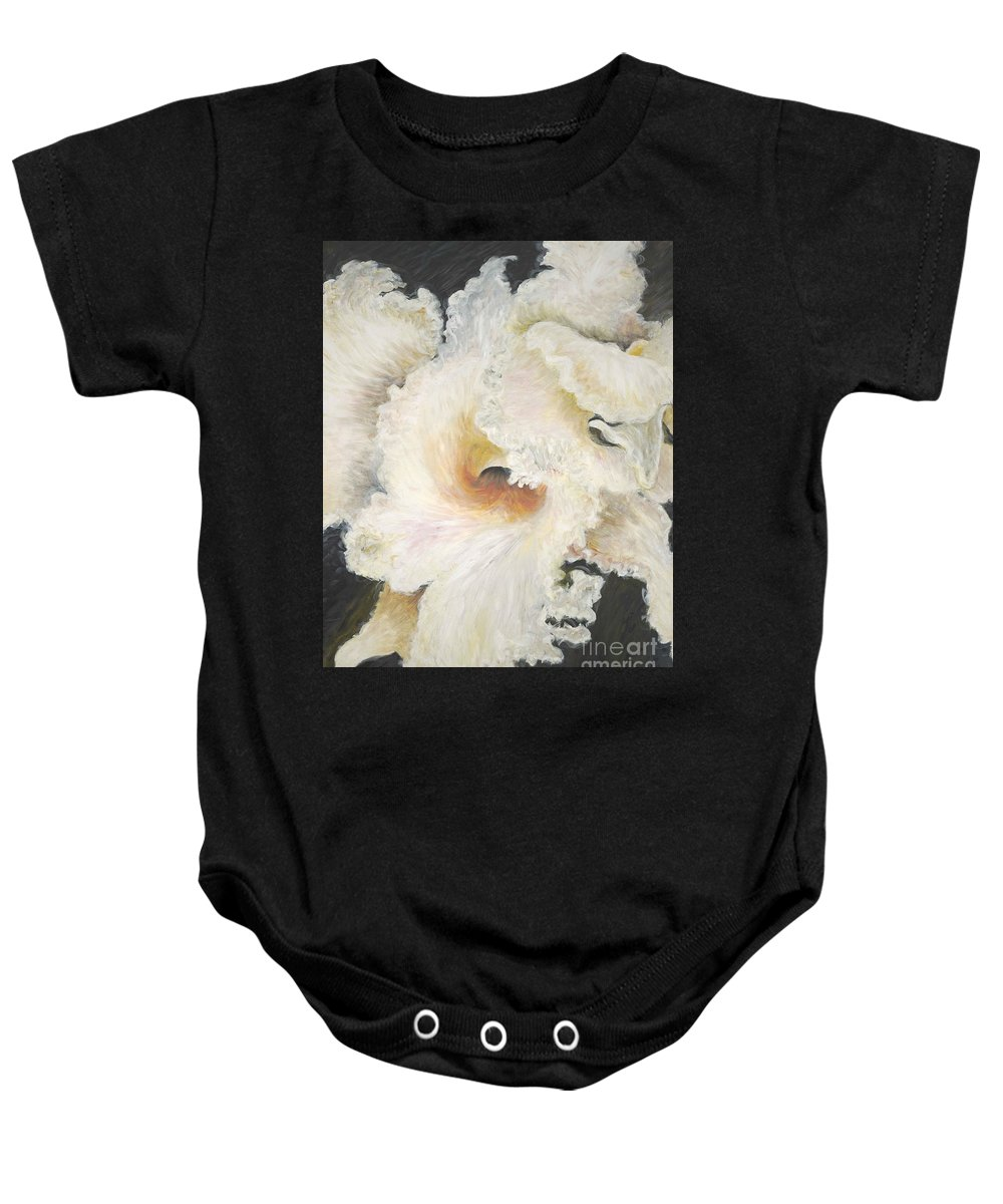 Flower Baby Onesie featuring the painting Tropical Flowers by Nadine Rippelmeyer