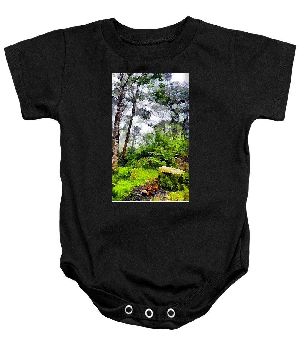 Tropical Forest Baby Onesie featuring the photograph Tropical Forest by Galeria Trompiz