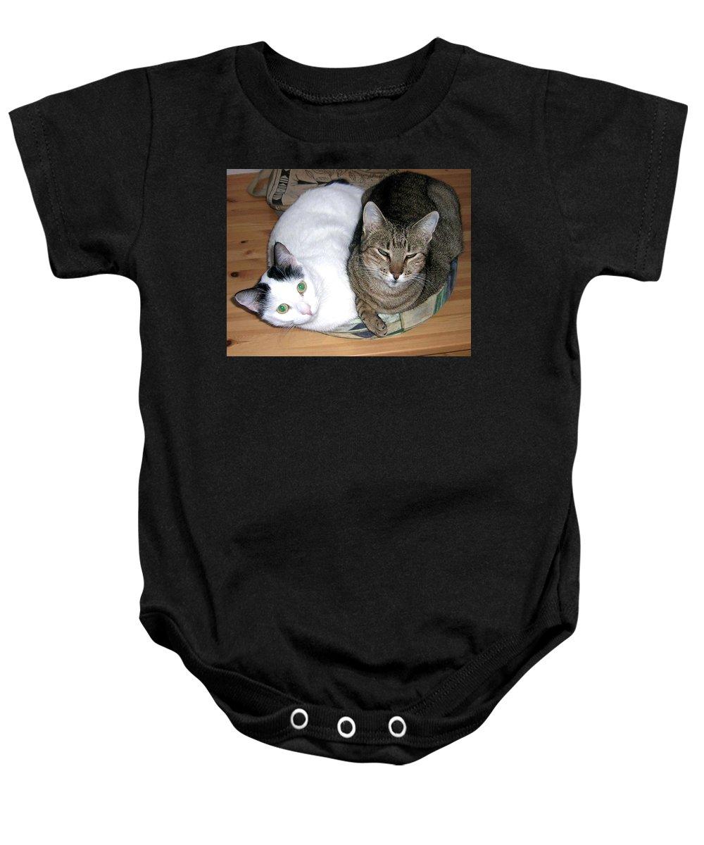 Cat Baby Onesie featuring the photograph True Love by Valerie Ornstein