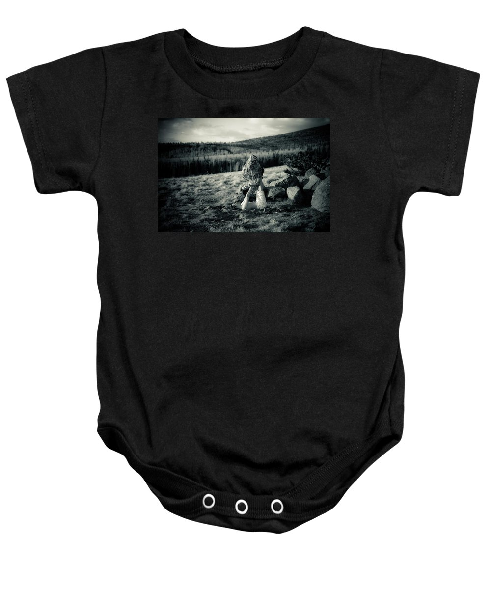 Acroyoga Baby Onesie featuring the photograph Trust Egg by Scott Sawyer
