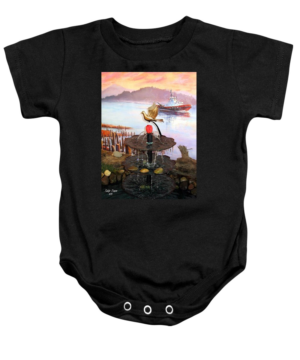 Agriculture Baby Onesie featuring the photograph Tulip Town 20 by Will Borden
