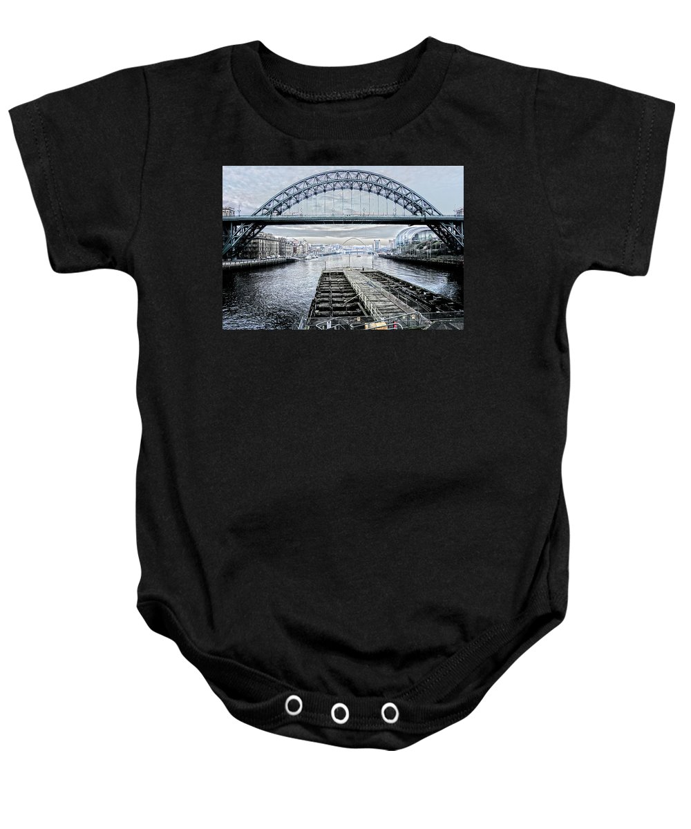 Newcastle Baby Onesie featuring the photograph Tyne Bridge, Newcastle by Gordon Ball