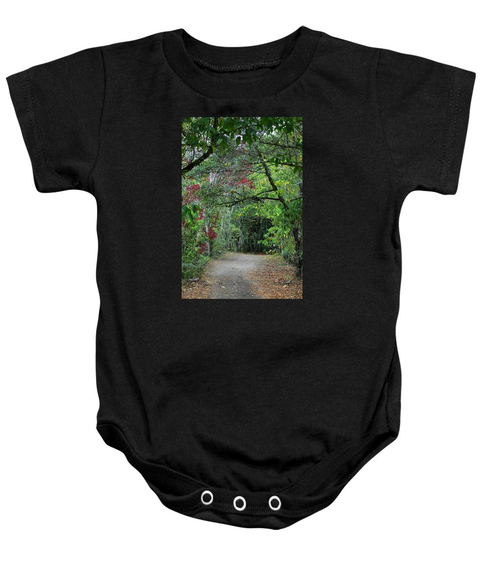 Tropics Baby Onesie featuring the photograph Tunnel Of Love by Teresa Stallings