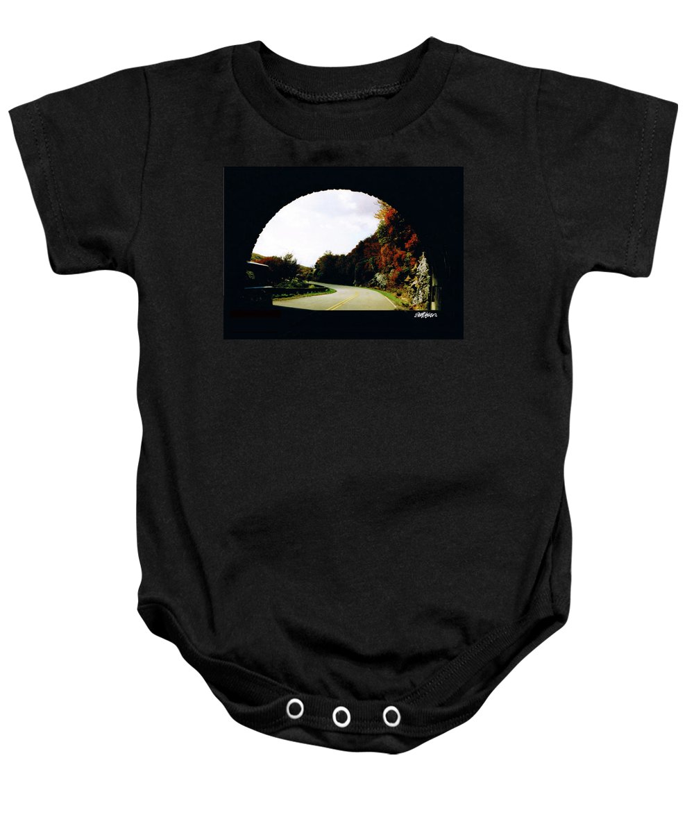 Tunnel Vision Baby Onesie featuring the photograph Tunnel Vision by Seth Weaver