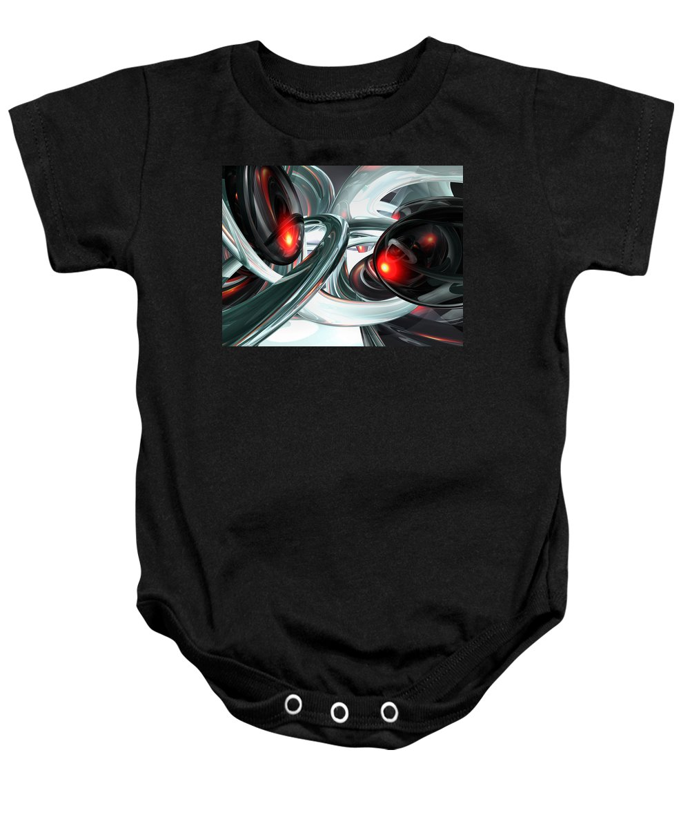 3d Baby Onesie featuring the digital art Turmoil Abstract by Alexander Butler