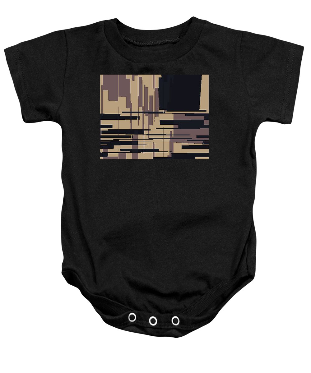 Abstract Baby Onesie featuring the digital art Tv Off Abstract by Lenore Senior