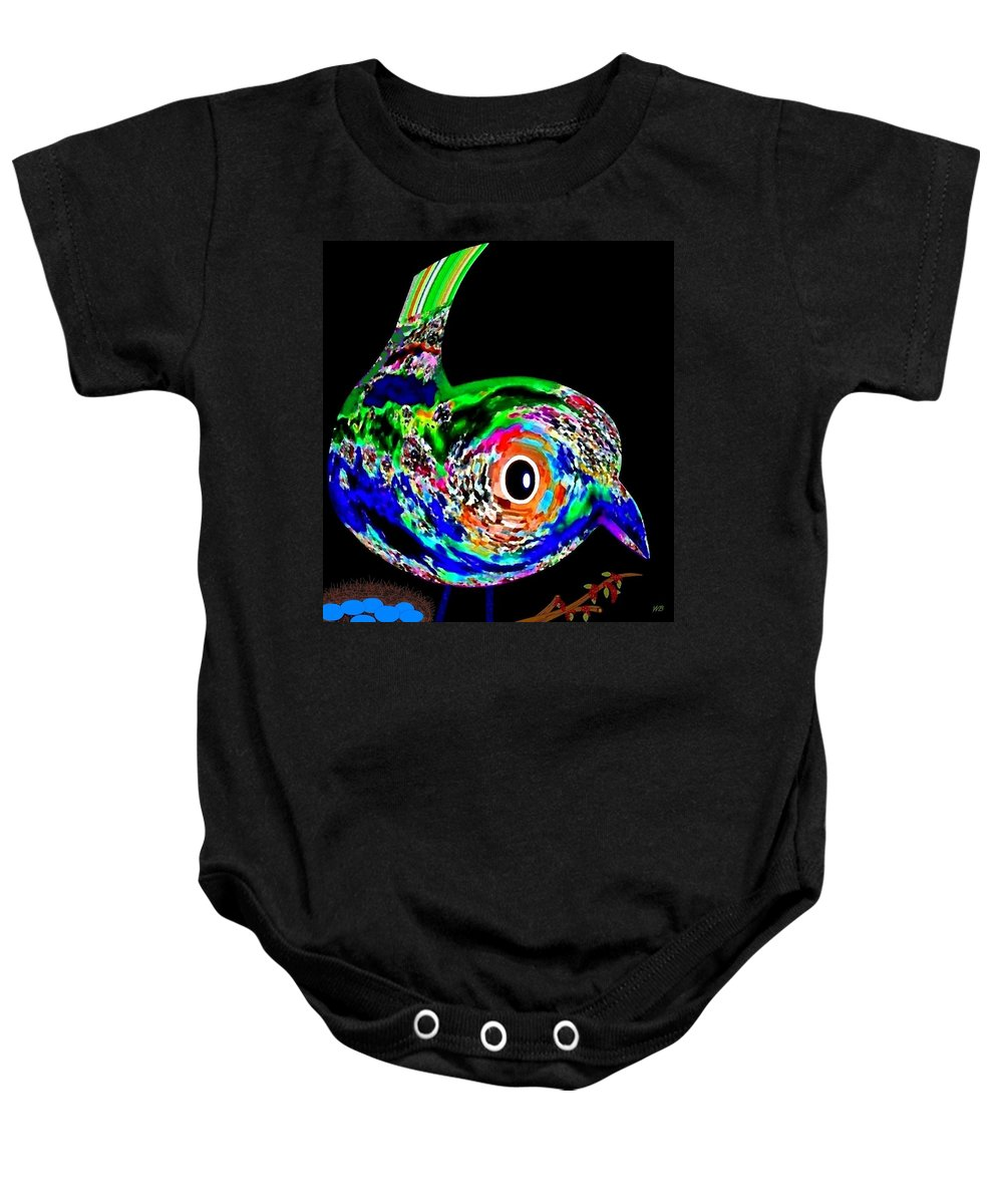 Abstract Baby Onesie featuring the digital art Tweeter by Will Borden