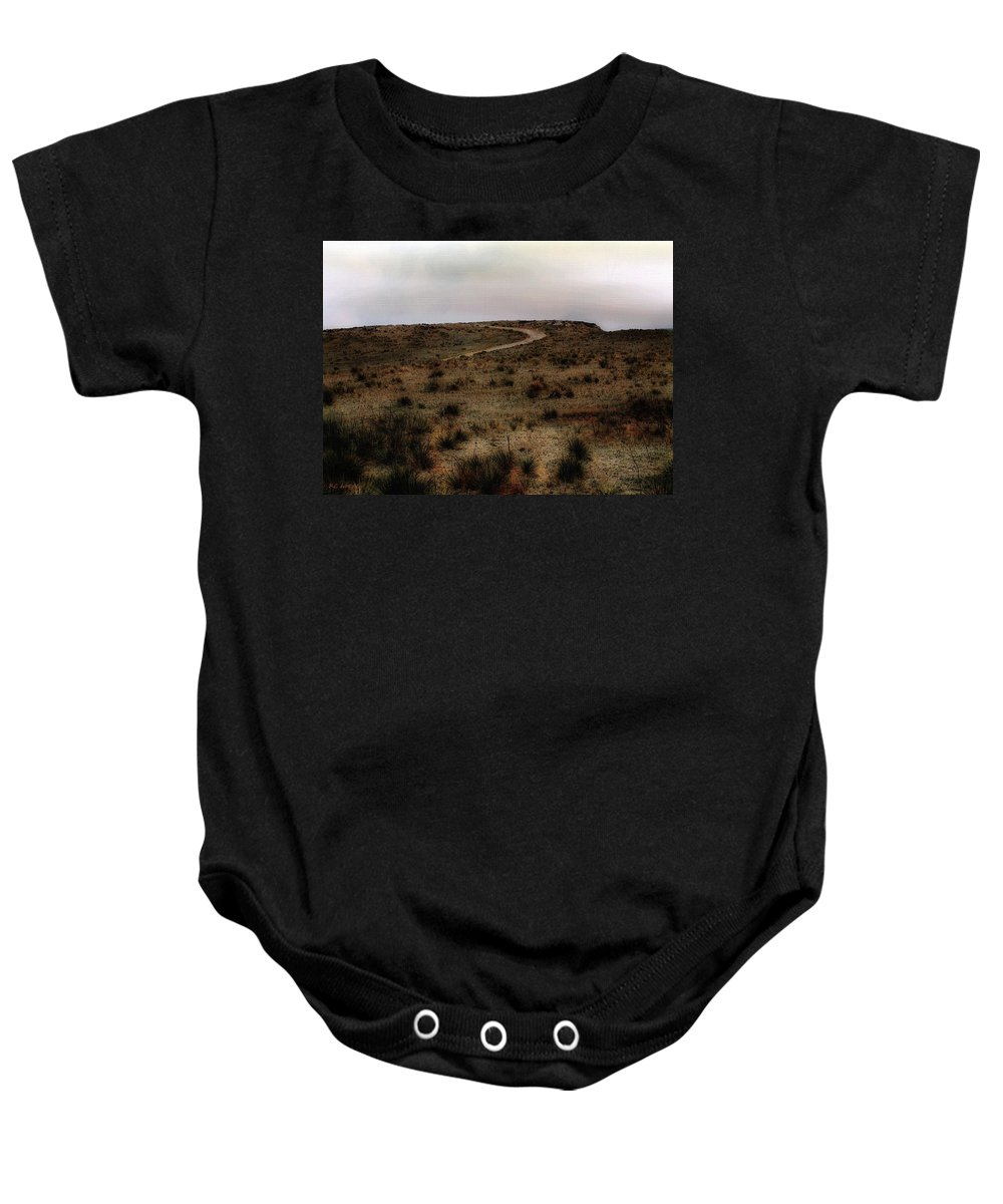 Colorado Baby Onesie featuring the painting Twilight Grasslands by RC DeWinter