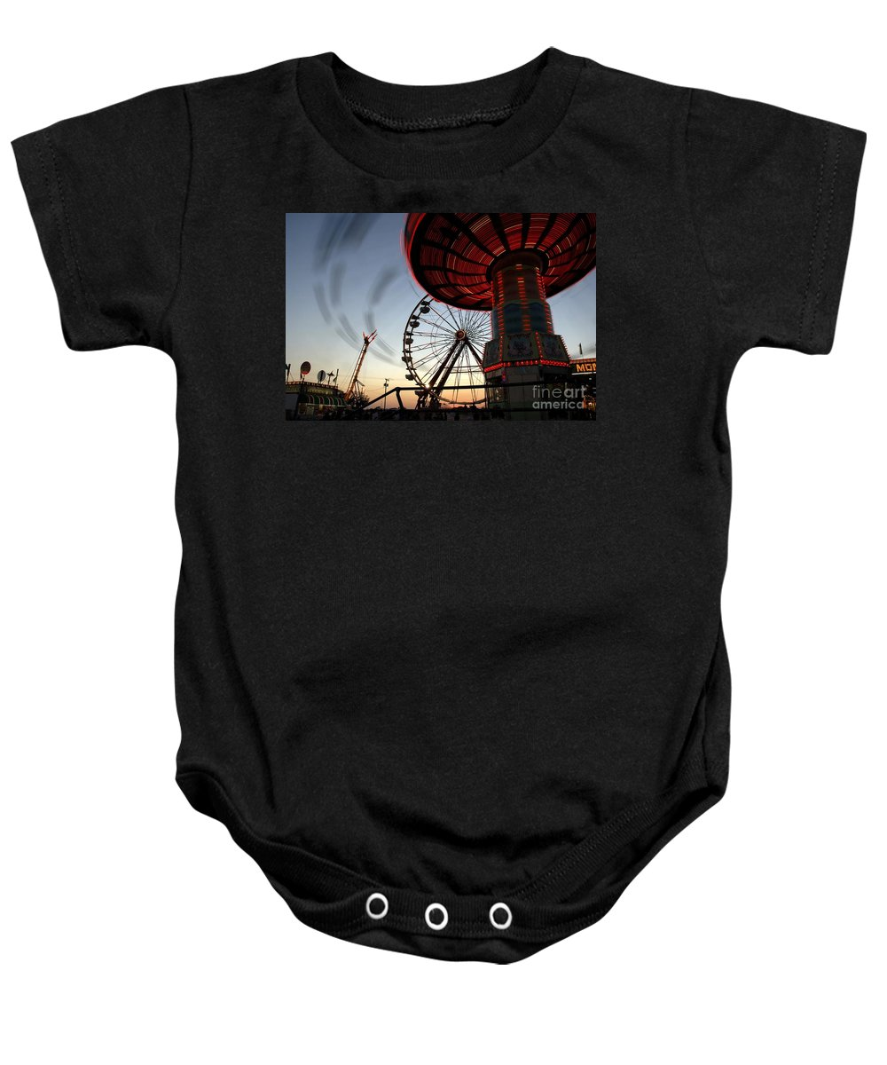 Fair Baby Onesie featuring the photograph Twirling Away by David Lee Thompson