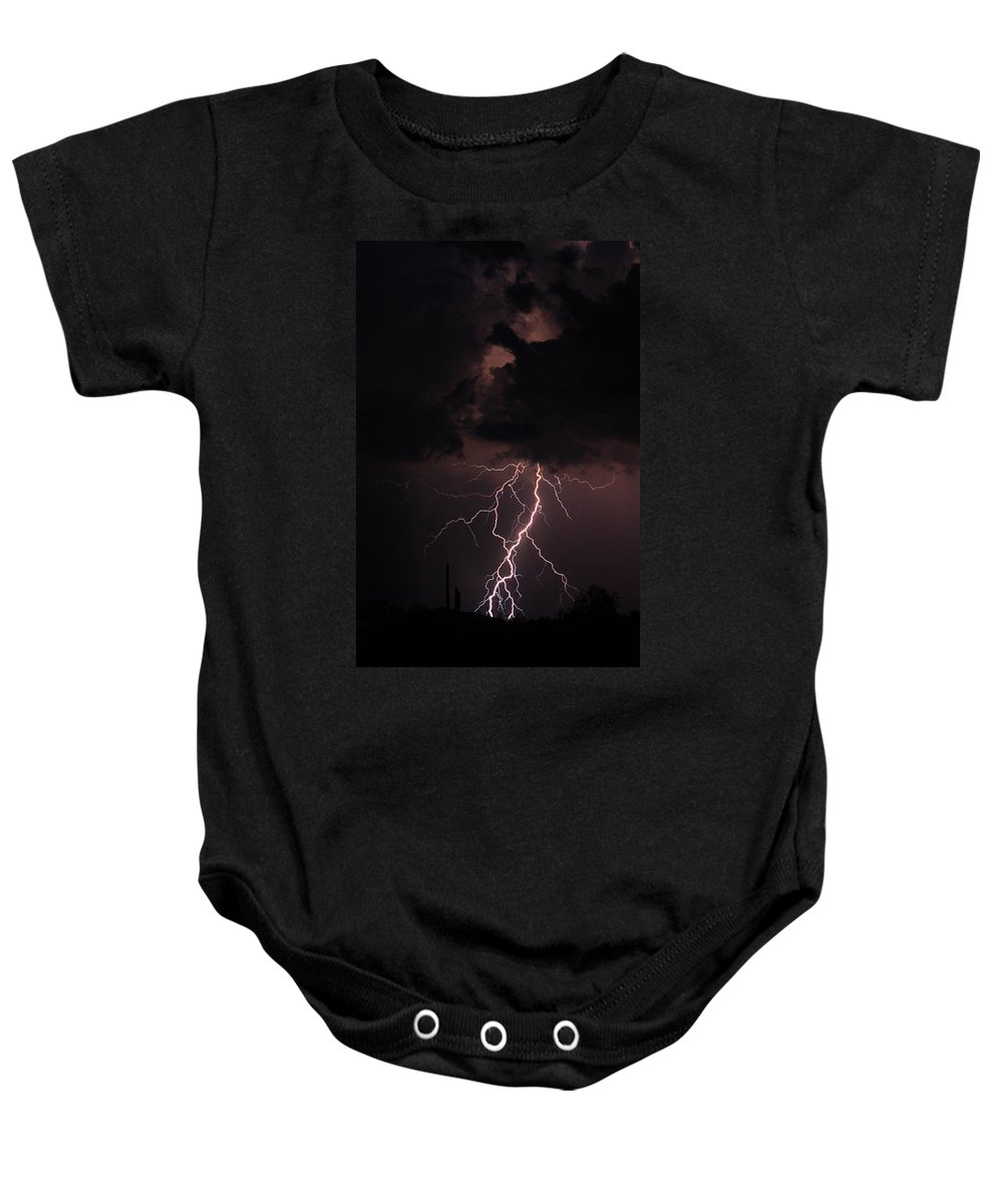 Lightning Baby Onesie featuring the photograph Twisted Sister by James BO Insogna