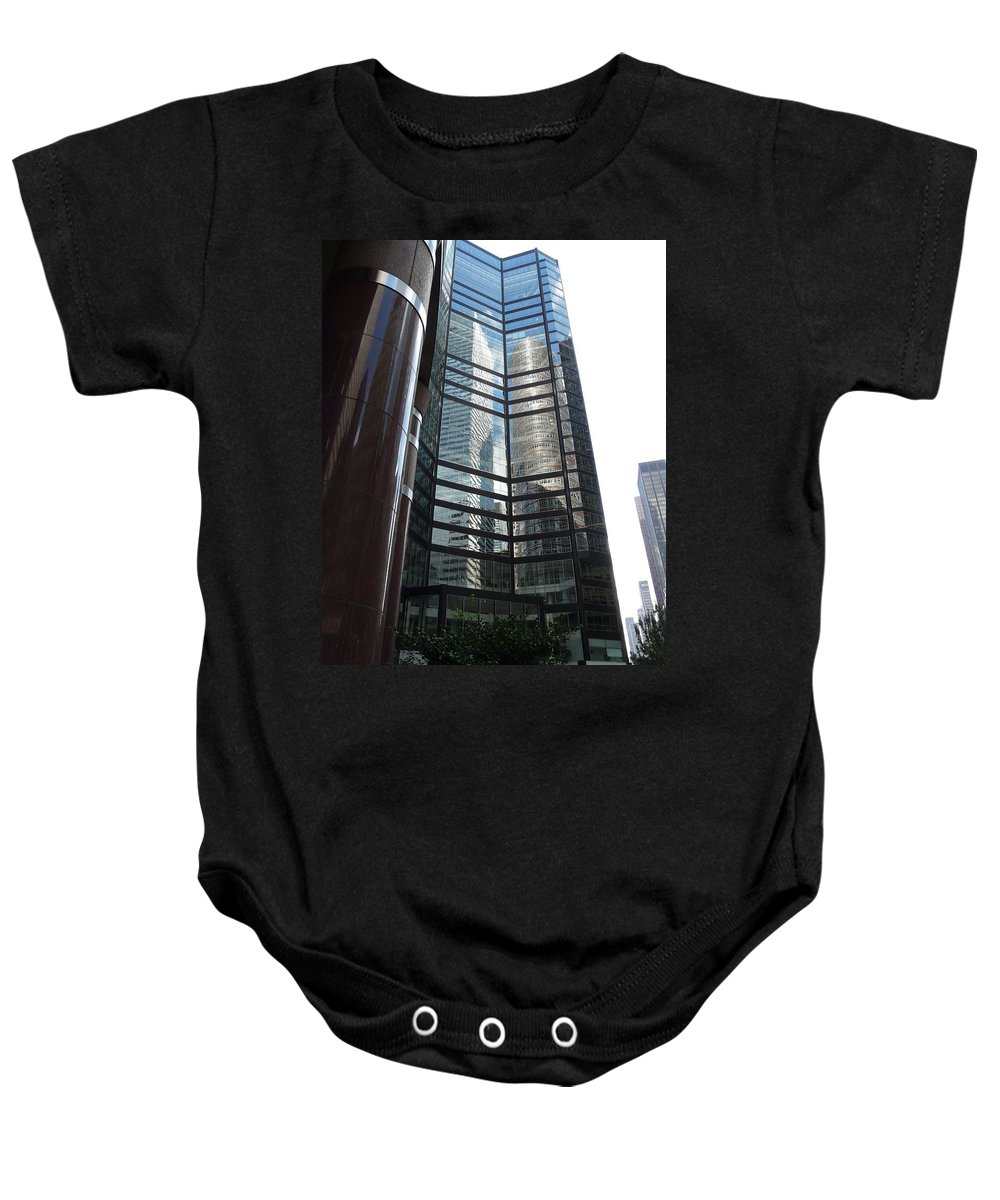 Reflection Baby Onesie featuring the photograph Two In One by Valerie Ornstein