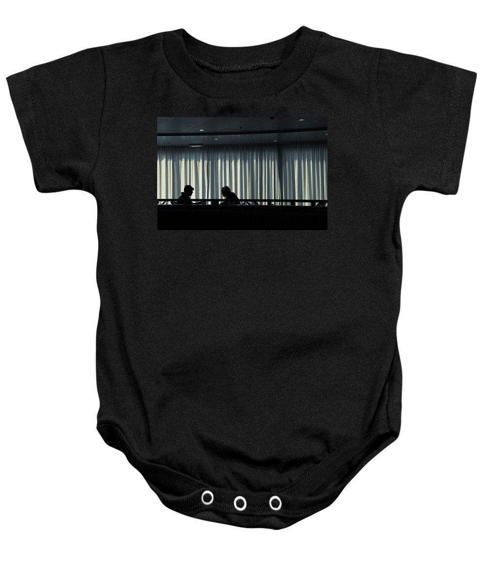 Couple Baby Onesie featuring the photograph Two by Silvia Ganora