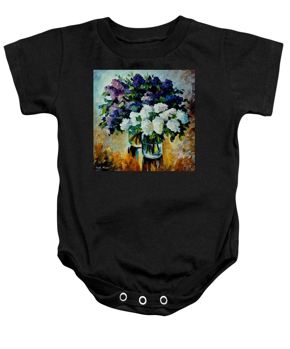 Painting Baby Onesie featuring the painting Two Spring Colors by Leonid Afremov