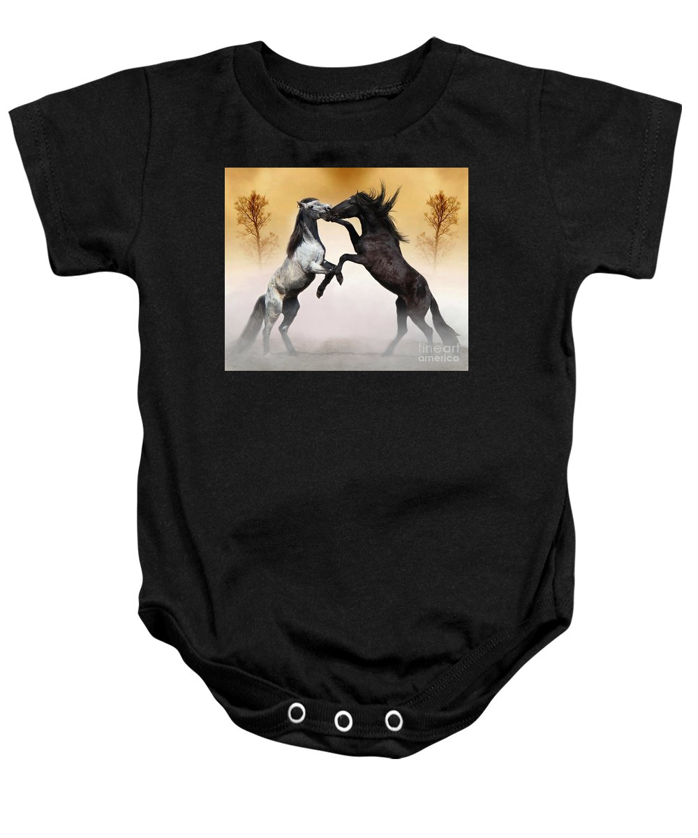 Animals Baby Onesie featuring the photograph Two To Tango by Davandra Cribbie