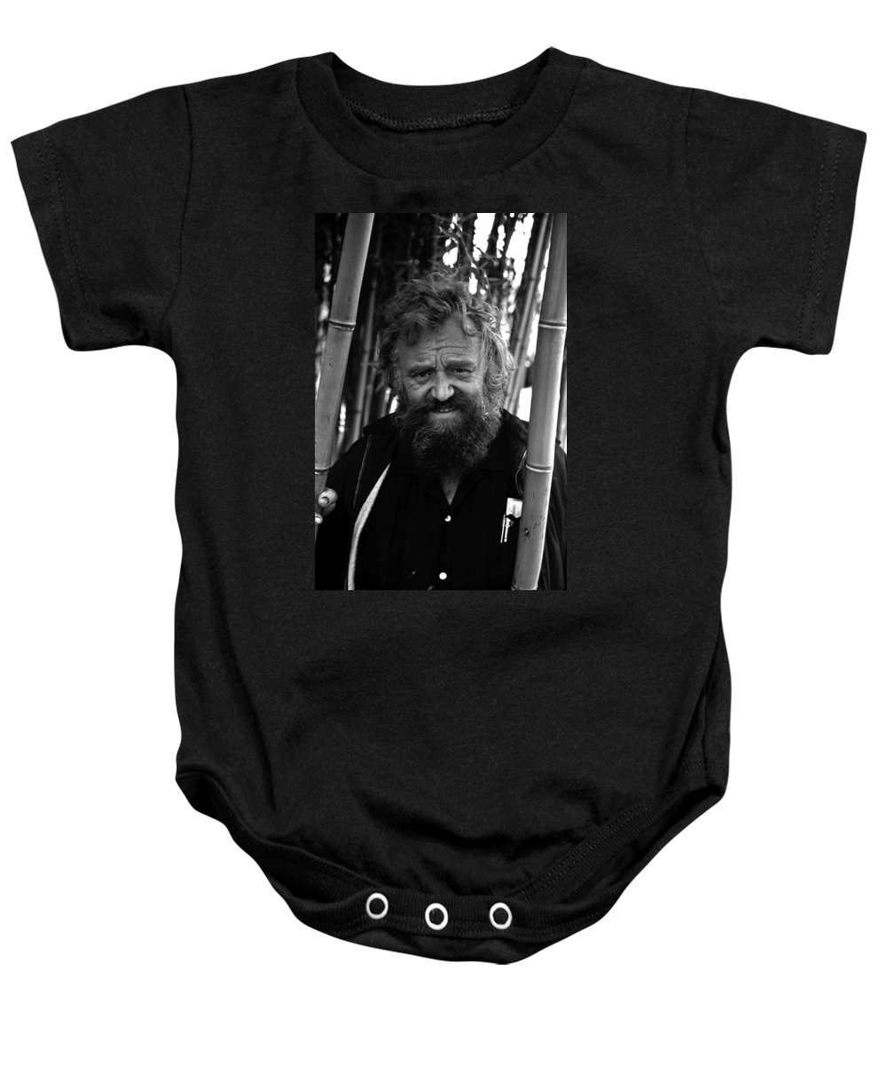 Portrait Baby Onesie featuring the photograph Uncle Will by Lee Santa