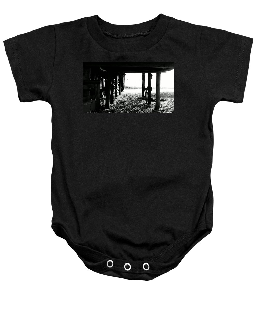 Landscape Baby Onesie featuring the photograph Under The Boardwalk by Stephanie Haertling