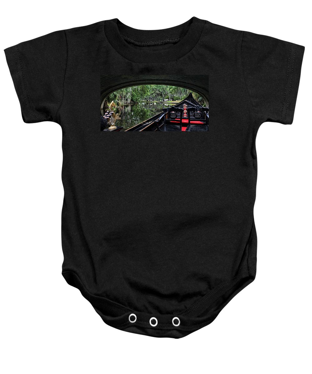 New Orleans Baby Onesie featuring the photograph Under The Bridge by Judy Vincent