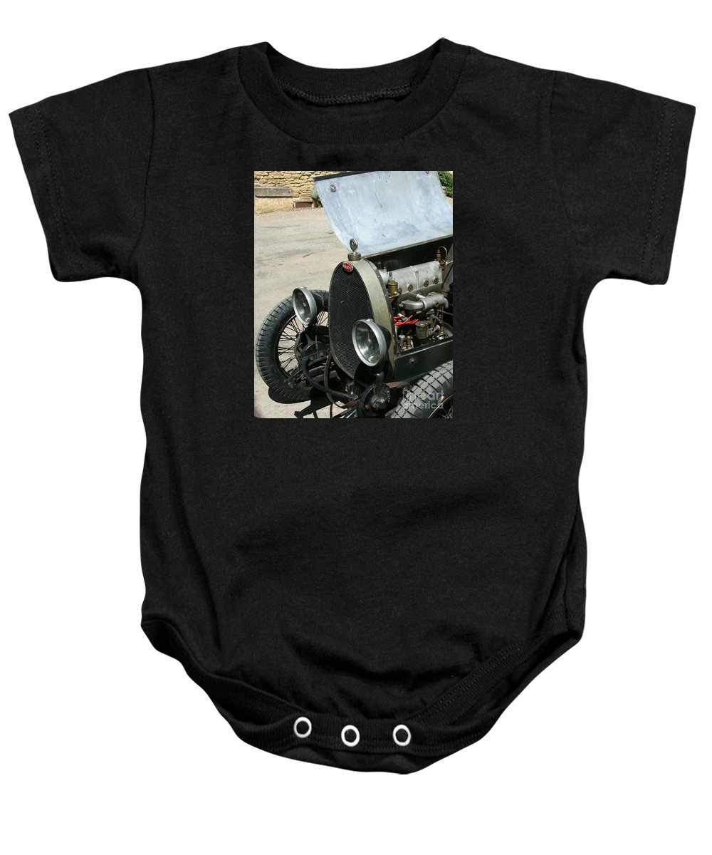 Hood Baby Onesie featuring the photograph Under The Hood by Christiane Schulze Art And Photography