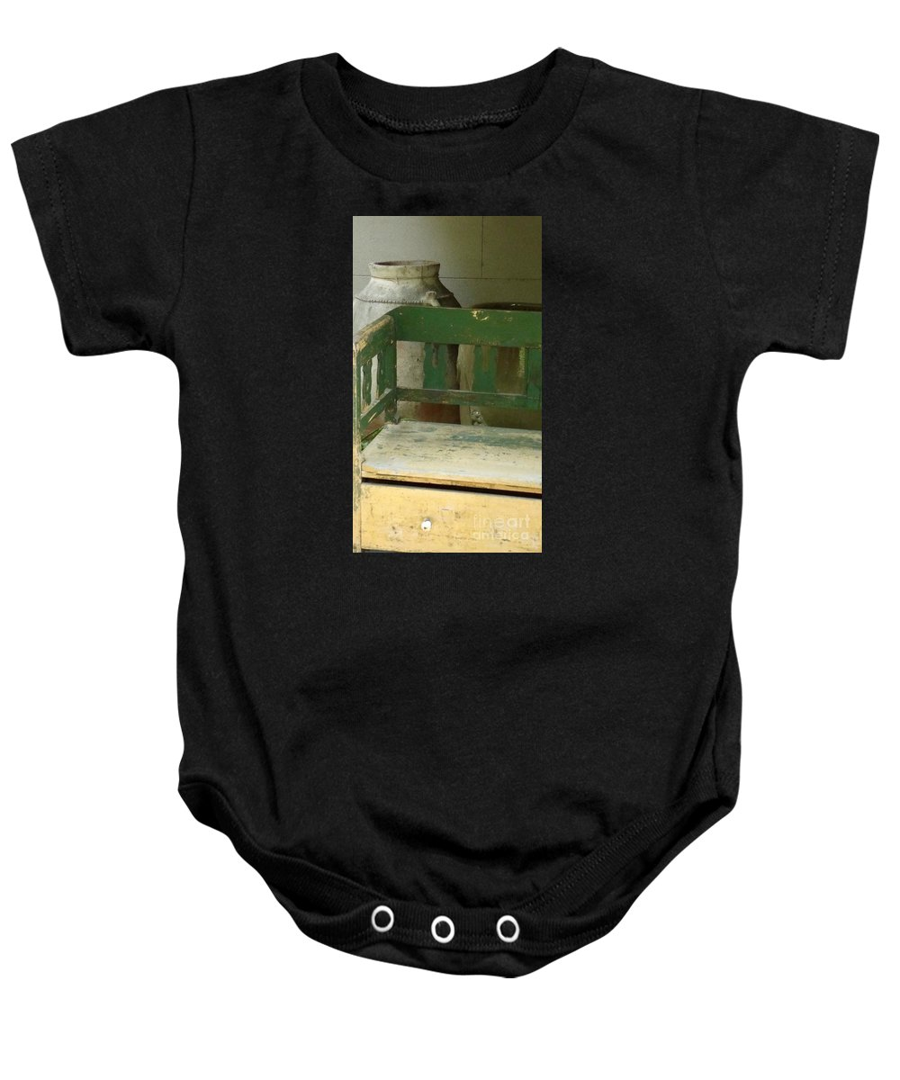 Antique Baby Onesie featuring the photograph Under The Stairs by Dennis Knasel