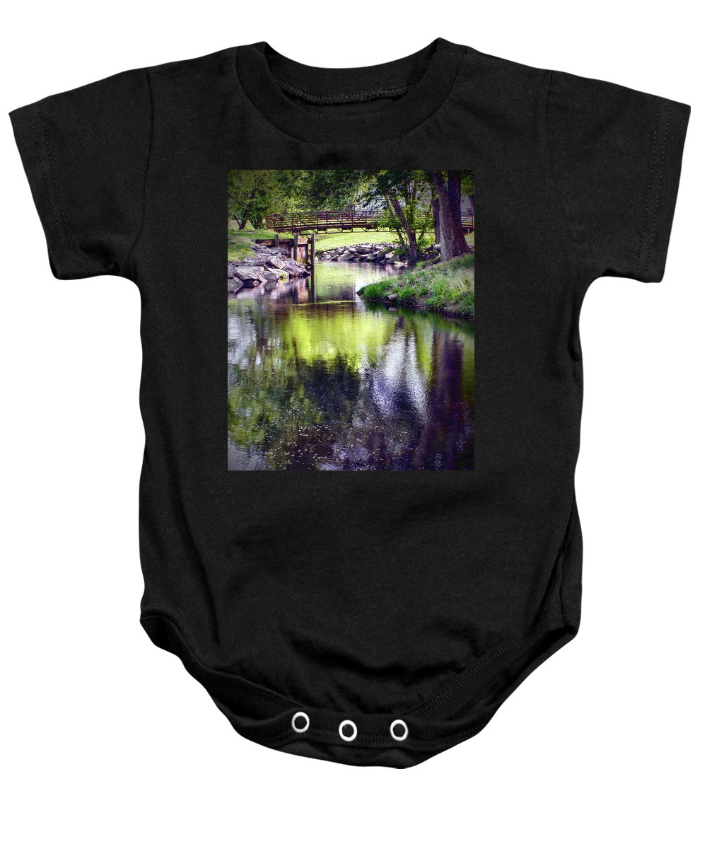 2d Baby Onesie featuring the photograph Unicorn Walk-bridge by Brian Wallace