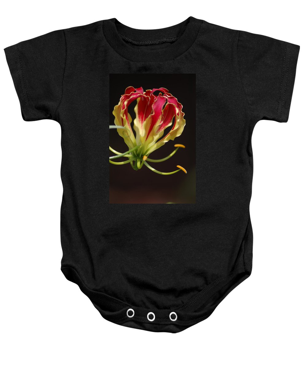 Flowers Baby Onesie featuring the photograph Unique by Donna Bentley