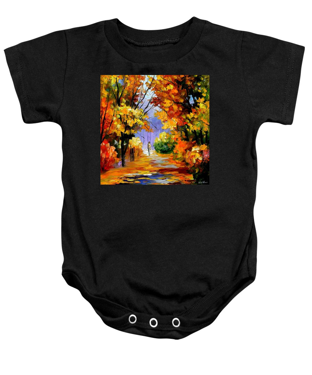 Afremov Baby Onesie featuring the painting Unity With Nature by Leonid Afremov